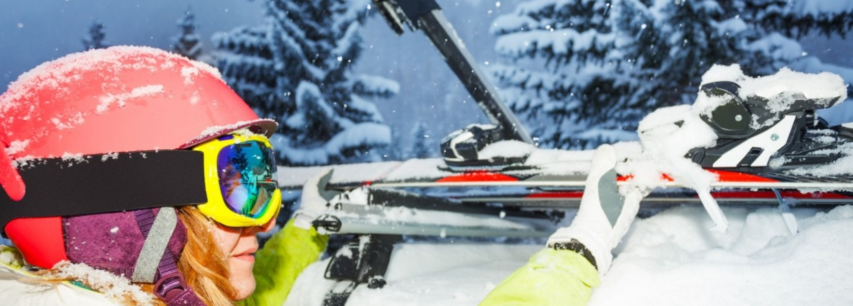 ski op auto voor wintersport